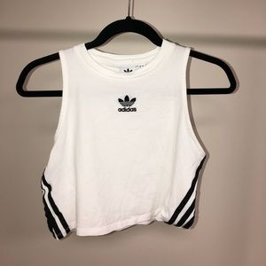 Adidas cropped exercise/street wear top.